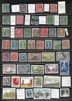Kanada pecsételt bélyegeiből 44 db 21,10 EUR (g 783)