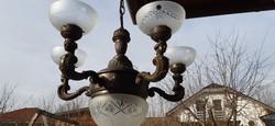 Öt karos antik barokk csillár fellelt állapotban eladó.