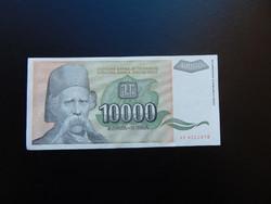 10000 dinár 1993 Szép ropogós bankjegy 01