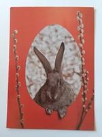 Retro húsvéti képeslap 1981 nyuszis levelezőlap