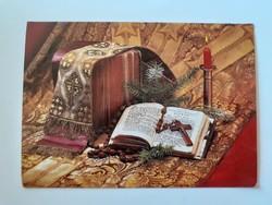 Retro karácsonyi képeslap levelezőlap
