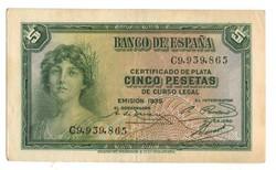 5 peseta 1935 Spanyolország