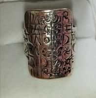 Izraeli ezüst gyűrű, egyedi, különleges darab