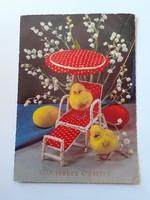 Retro húsvéti képeslap játékos levelezőlap