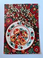 Retro húsvéti képeslap 1975 kerámiás levelezőlap