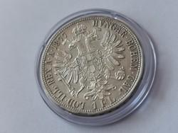 1877 ezüst 1 florin,gyönyörű darab, kapszulában,így nagyon ritka!!!