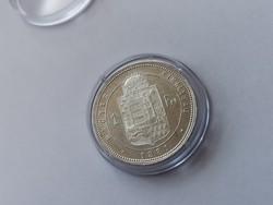 1881 ezüst 1 forint,gyönyörű állapotban,kapszulában-így ritka