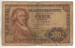 100 peseta 1948 Spanyolország