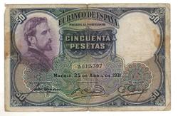 50 peseta 1931 Spanyolország 1.
