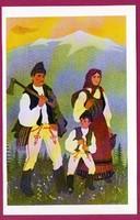 E - 0034 - - - Irredenta (reprint) képeslap - Külhoni népviselet,  Csík-Háromszéki