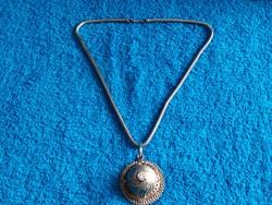 1,-Ft Meseszép antik ezüst lánc ezüst medállal