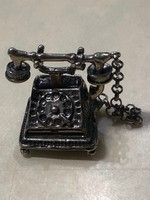 Antik Ezüst Miniatűr Retro Telefon Levehető Kagylóval Eladó vagy Csere Is Leárazva !