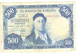 500 peseta 1954 Spanyolország
