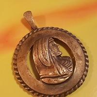 Iparművészezüstözött medál 4 cm-es