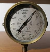 Német hajózási hidraulika nyomásmérő óra FABR.K - ZFICHFN Schaeffer & Bundenberg Aussig (Ér-581)