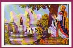 E - 0033 - - - Irredenta (reprint) képeslap - Nagyvárad, Szent László szobor