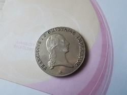 """1821""""A""""I.Ferenc tallér 28 gramm 0,833 Ritka-gyönyörű,gyűjteményes állapot"""
