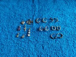 1,-Ft Ezüst fülbevalók és ezüst medálok egyben