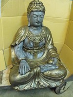 Ritka Gyógyító Thai földi Kő Buddha Bronz os 70cm Feng shui  Fagyálló műkő szobor