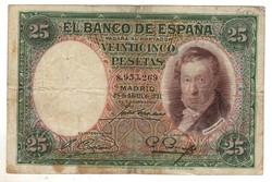 25 peseta 1931 Spanyolország