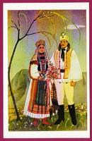 E - 0037 - - - Irredenta (reprint) képeslap - Külhoni népviselet,  Torockói