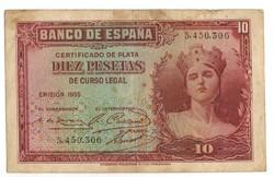 10 peseta 1935 Spanyolország 2. Sorszám előtt nincs sorozatjel