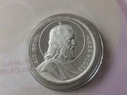 Szt István ezüst 5 pengő,gyönyörű darab kapszulában,így ritka