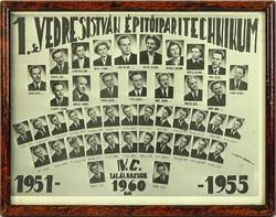 0L913 Régi SZEGEDI VEDRES tablókép 1951-55
