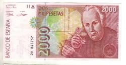 2000 peseta 1992 Spanyolország 2. kiváló