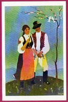 E - 0036 - - - Irredenta (reprint) képeslap - Külhoni népviselet,  Udvarhely-Marosszéki