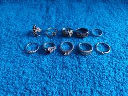 1,-Ft 10 db ezüst gyűrű egyben