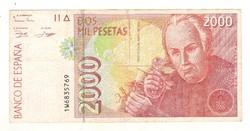 2000 peseta 1992 Spanyolország 1.