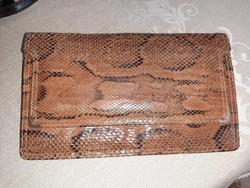 Vintage kígyó bőr táska