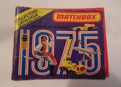 Matchbox katalógus 1975 régi retro játék