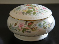 Aynsley Wild Tudor angol porcelán fedeles bonbonier