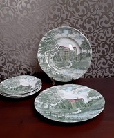 4209- Angol  tányérok ( Tudor Hall )