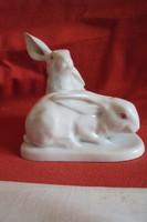 Hibátlan Herendi Nyuszi pár porcelán figura
