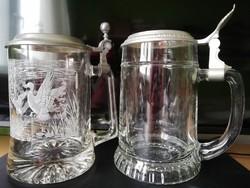 2 db ónfedeles üvegkupa