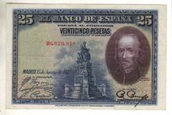 """25 peseta 1928 Spanyolország """"B"""" sorozat Kiváló"""