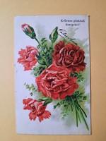 Antik dombornyomott húsvéti üdvözlőlap, levelezőlap, 1907