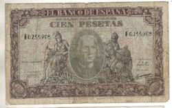 100 peseta 1940 Spanyolország Ritka