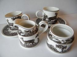 Villeroy & Boch Anjou porcelán 2 személyes kávés, teáskészlet