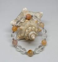 Narancs sárkányvéna achát karkötő, 10 mm-s gyöngyökből