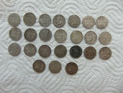 Anglia 24 darab ezüst 3 pence LOT ! 925 - ös ezüst