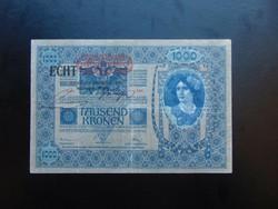 1000 korona 1902 ECHT Felülbélyegzés !!!