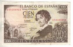 100 peseta 1965 Spanyolország