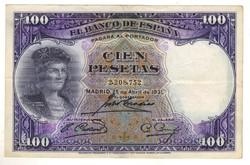 100 peseta 1931 Spanyolország 1. kiváló