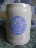 Korsó sörös kerámia német bajor 0,5 liter Dillingen