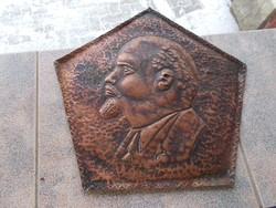 Lenin réz kép,32cm