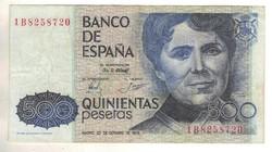 500 peseta 1979 Spanyolország